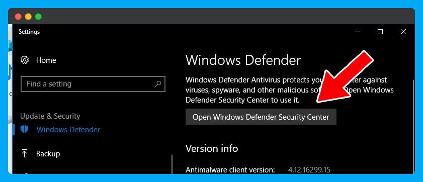 Open-Windows-Defender-Security-Center